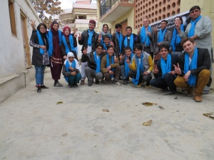 The Afghan Peace Volunteers in Kabul, with British and Swedish friends